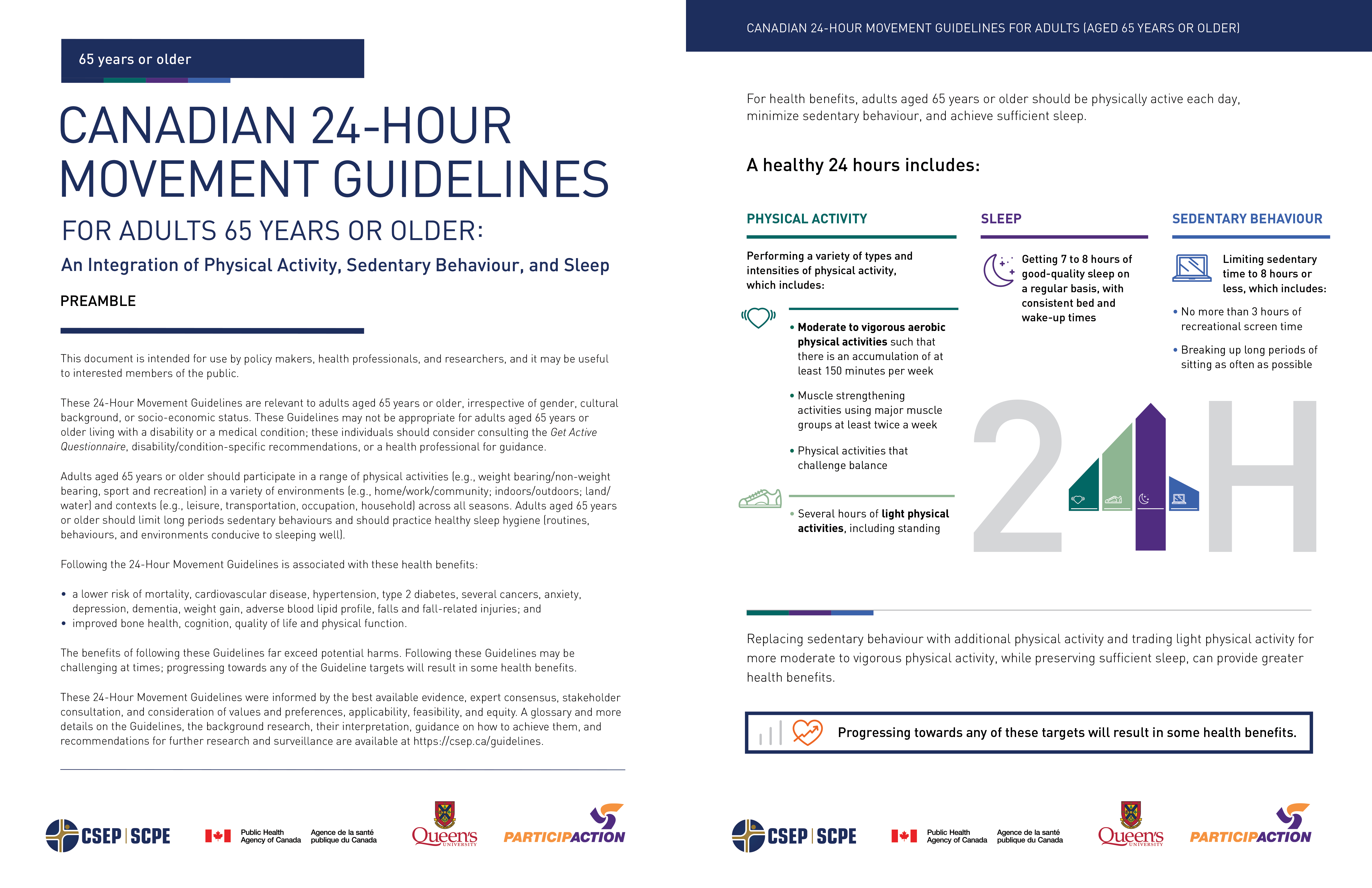 Download Guidelines for Adults 65 years and over